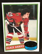 1980-81 TOPPS HOCKEY DOUG WILSON CARD #12 CHICAGO BLACKHAWKS NMT/MT-MINT
