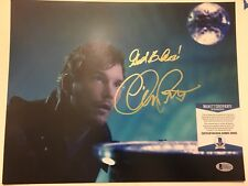 Chris Pratt Signed 11x14 Photo Marvel Gaurdians Of The Galaxy Beckett BAS COA