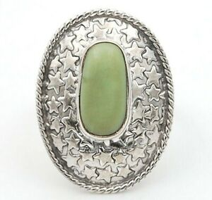 Natural Chrysoprase 925 Sterling Silver Ring Jewelry Sz 6.5, ED7-9