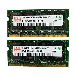 Hynix 4GB (2GB x2) PC2-6400S-666-12 HP 441591-888 RAM Laptop Memory OEM