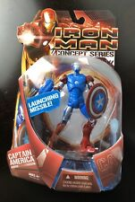 "2008 IRON MAN Concepts Series CAPTAIN AMERICA ARMOR 6"" action figure Marvel NEW"