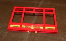 Playmobil pompiers mur rouge véranda de la caserne 5361