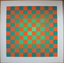 Hugo DEMARCO Sérigraphie serigraph serigrafia S/N op art cinétique Vasarely