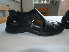 ECCO Black Leather Gladiator Sandals Slides *Size 6.5/7 UK/40 EU* Ex Condition
