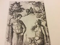 Vintage Book Plate - Allegory of Cupid Defeated Chastity - Duvet - 1925