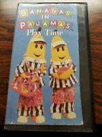 Bananas In Pajamas Vhs Play Time Rare hard shell case htf