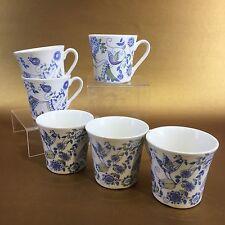 Set Of 6 Vintage Lotte Figgjo Norway Turi Coffee Tea Cups Mugs Figgio Danish