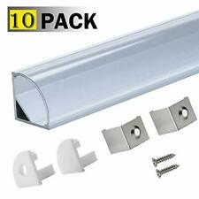 LED Aluminum Channel V Clear,StarlandLed 10-Pack LED Strip Light Track with