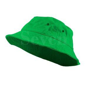 Bucket Fishing Boonie Cotton Hat Cap Brim Visor Sun Safari Military Camp Travel