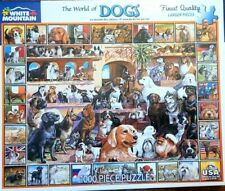 """White Mountain Puzzles """"The World of Dogs"""" 1000 Piece Jigsaw Puzzle 🧩🧩🧩"""