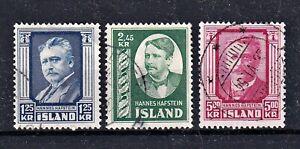 Island - MiNr 293-295 - komplett - Mi€ 45