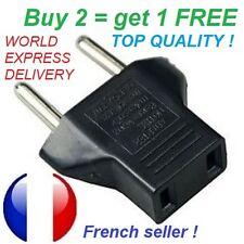US to EU travel plug adapter USA to EUR Europe 110v to 220v express delivery