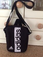 GREAT ADIDAS SMALL BLACK/WHITE KIDS CROSS BODY BAG USED GOOD CONDITION
