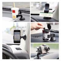 Car Accessories Windshield Black GPS 360° Rotating Phone Mount Holder Universal