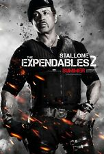 SYLVESTER STALLONE EXPENDABLES 2 AUTHENTIC 27X41 DOUBLE SIDED THEATRE POSTER