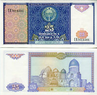 UZBEKISTAN / Usbekistan  25 Sum banknote 1994 P 77 kassenfrisch UNC.