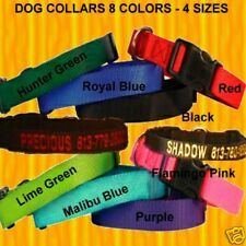 """PERSONALIZED EMBROIDERED  DOG & CAT COLLARS """"8 Colors & 4 Sizes To Choose From"""""""