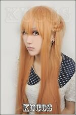 Sword Art Online Asuna Anime Costume Cosplay Wig +Free ship + Wig CAP