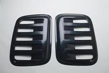 Auto Ventshade Aeroshades Rear Side Louvered Black Paintable 97444