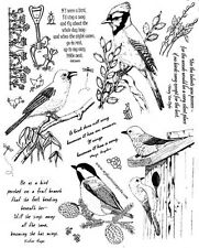 Unmounted Rubber Stamps Sheets, Wild Birds, Bird Quotes & Sayings, Scenic Stamps