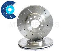FORD FIESTA KA RS TURBO XR2i PUMA Drilled Grooved Front Brake Discs