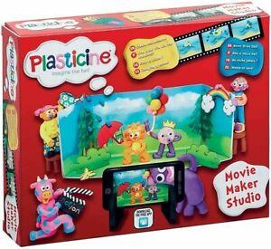 Plasticine Movie Maker Studio Set 12 Colours Never Dries Out New Kids Xmas Toy