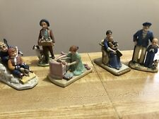 Lot of 5 Vintage Norman Rockwell Statues & Figurines Collectible