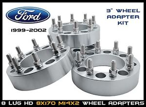 """8x170 3"""" Wheel Spacers Wheel Adapter Ford F250 F350 Excursion 