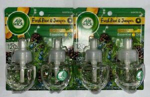 2 Packs Air Wick Fresh Pine & Juniper Scented Oil 2 Refills Per Pack