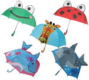 Atino Childrens 3D Fun Animal Umbrella