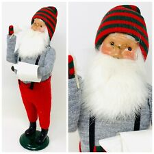 13� Byers Choice Ltd. Caroler – Santa With Feather Pen & List, 1991