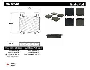 Disc Brake Pad Set-Wagon Front Centric 102.00510