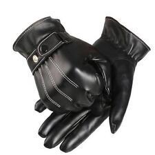 Mens Women Luxurious Mitten Leather Winter Super Driving Warm Gloves Cashmere