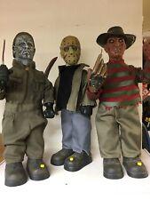 Michael Myers Gemmy Rob Zombie 14 Inch Figure Halloween Freddy Jason Figure Lot