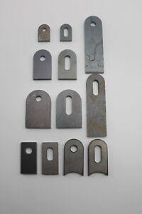 Anschweißlasche mit Lochung Stahl roh - Metall Halter Eisen Loch Halter Lasche
