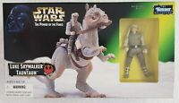 STAR WARS POWER OF THE FORCE LUKE SKYWALKER AND TAUNTAUN ACTION FIGURE AND MOUNT