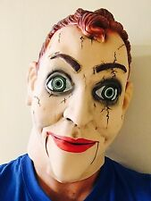 Ventriloquist Dummy Creepy Puppet Mask Eyes Follow Halloween Horror Costume