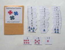 Teacher Made Math Center Learning Resource Game Subtraction Puzzles