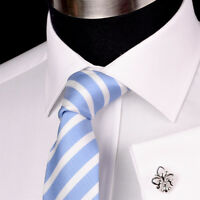 Solid White Royal Oxford Formal Dress Shirt Men's Professional Business Work Top