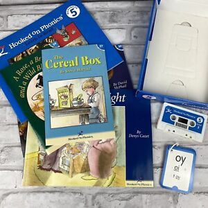 Hooked on Phonics Learn to Read Level 5 Workbook Cassette Flashcards Hop Books