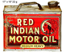 Red Indian Motor Oil Reproduction Laser Cut Out Sign 15x17