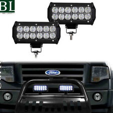 36W LED LIGHTS FOR 04-18 FORD F150 NON-ECOBOOST BLACK BULL BAR BUMPER GUARD