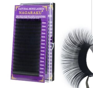 Individual Mink lashes silk single eyelashes extension B curl 11 MM *UK SELLER*