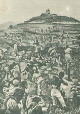 C2045 Le orde abissine assalgono forte di Macallè - Stampa d'epoca - 1949 print