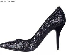 Guess Black Sequin Pumps Heel Shoes Sz 8M