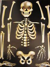 Esqueleto de Halloween parte del cuerpo Adhesivos Para Espejos, Ventanas Etc Reutilizable