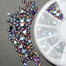 Pretty 300Pcs 3D Crystal Glitter Rhinestone DIY Nail Art Tips Gems Decoration CI