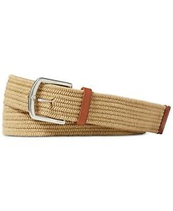 Polo Ralph Lauren Men's Braided Stretch Belt Timber Brown-Size Large 34-36