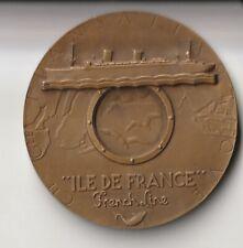 """Médaille du Paquebot """"Ile de France"""" (avec sa boite)"""