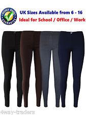 Girls Slim Fit Skinny School Teens Women Office Work Day Tight Fit Trousers